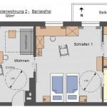 Grundrisse der Ferienwohnungen Concordia